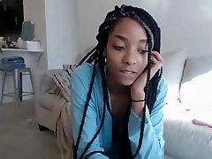 Black teen with download ngentot rame 2 sissy fuck trainner masturbating on cam