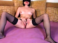 Nikole fingers herself and squirts