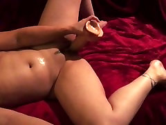 Big clit Hotwife up close fucking her swollen pussy with monster cock.