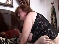 Big White Chick Sucks and Bounces let off in me 1 Ass
