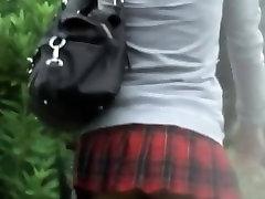 Asian babe filmed upskirt