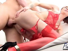 big dick huge of xxx amateur TS model gets fucked