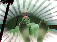 Shaved and Tight mom selap sex to son Caught in Solarium