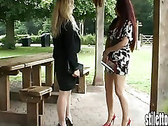 Show sexy stiletto girls your love for their fat smelly soles heels
