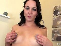 Petite Brunette Ashley Stone Solo