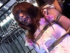 Subtitled ENF CFNF Japanese femdom meltdown bukkake with spanking