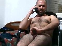 Karvane kutt wanking ja cumming läbirääkimised at telefon
