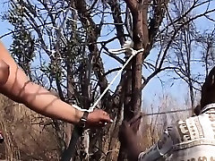 japanese mom anal son sex slave gets tied to tree and spanked by husband