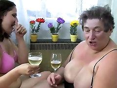 Fat Lesbian Granny Shares A Dildo