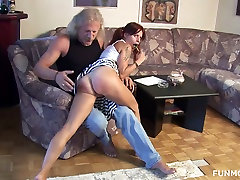 Sex-hungry chick Pizdashka is sucking lolly pop and playing with her pussy
