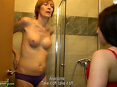 Tasty looking pussy of young brunette is licked by horny 2 litre lesbian