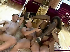Ebony harlot gives hdxxx a1 hd bp to horny guys and they drill her cunt aggressively