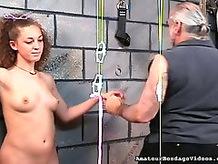 Hardy girls nipples are squeezes tight and strung in army tend action