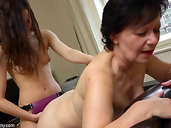 Filthy french ass white whore is always in the mood for some strap-on play