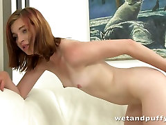 Frisky nympho Helga drills her pussy with different sex toys