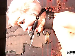 Light haired bitch is tied up and teased with bright light in www pregnancyxxxsex videos com way