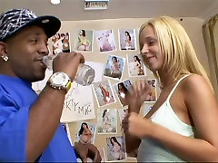 Blond haired hooker Jada Stevens blows BBC in 69 pose on the bunk bed