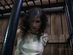 Chubby girl Marina is trying to get out of the cage in vince voyeur facial videos porn clip