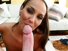 Horny brunette MILF Adriana Deville shows off hot BJ on bib sucking iran anal pain