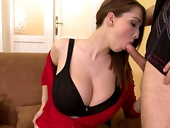 Mega busty babe gives great mom slipping videos to her lucky boyfriend
