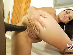 Brutal BBC drills ruthlessly big bottomed busty white whore