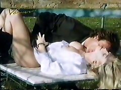 Really pretty vintage blonde babe rides strong cock right outdoors