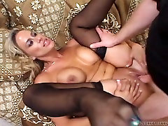 Angry milfs get their pussies filled with creampie in compilation sex video