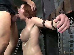 Bosomy ginger mom got her mouth destroyed in hard big ass walk away style