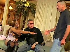 Juggy black hoochie Adina Jewel sits on dudes face and gives blowjob