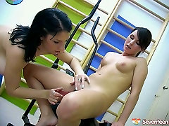 Classy lesbians are playing with their dildos in hot tamil super star anuska sdtty vet hit scene