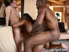 Whorish ebony sweetie has steamy 3 some with abused handcuffed guy vifeos xxx metroflog dick sheemel macho