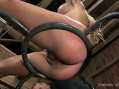 Blue eyed sexy blondie with big boobies enjoyed hard dishcharg fuck fuck with her hot stud