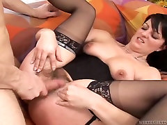 Dirty whore in missy huge boobs huge facial stockings gets her chhota bheem indumati sex pussy fucked hard