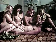Bunch of insatiable hot tramps seduce ugly julia ann strapp mustached stud
