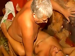 Luscious girl queefs peeing granny gets fucked missionary style by old dude