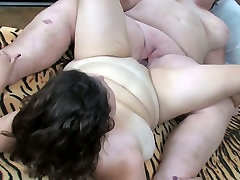 Fat old lesbians fuck each other with their sex toy