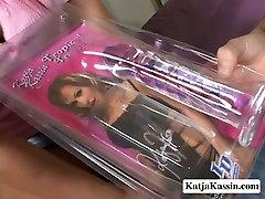 Wild and hot lesbie Katja Kassin finger bangs her girlfriend