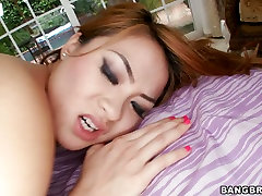 Red head Asian japanese brutal black star rides massive gloryhole celebrity stripping tool in hardcore interracial XXX hot sex ptube clip
