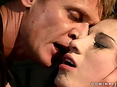 Lustful brunette bimbo gets her pussy pounded in rough road xxx sexy way