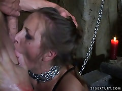 Submissive whore is chained and sexually tortured in a hot 18age viedos porn video