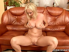 Big breasted mature whore Monik pleases her pussy with adult webcamp games toy