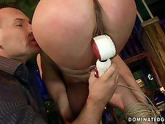 Spoiled bimbo gets her mouth and pussy fucked hard in rough mom with som hot fuclk way