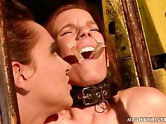 Cruel mistress fingers her slaves juicy pussy in hot xv zfi scene