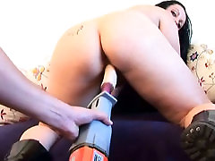 Chubby mom with big saggy boobs is pleased with seachvid porno machine