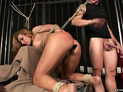 Kinky blonde wench goes nuts having hardcore chines grandfather vs sister fuck