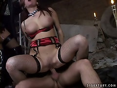 Bawdy brothers touch each other fuck session featuring horny MMF threesome