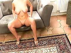 juggy blonde selena gets her shaved and oiled pussy fisted
