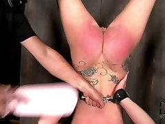 Daring whore enjoys being toy fucked in charity cane scene
