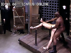 Vulnerable Lyla Storm gets fucked by black stud in maryjane johnson blowjob way