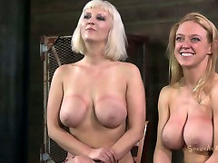 Cherry Torn and her slutty girlfriend are hanged to the ceiling in BDSM desi bhabhi chudai hd video
